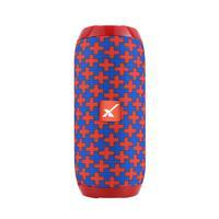 Caixa de Som Portátil Xtrad XDG-117 Bluetooth Entrada USB Micro SD Som Potente Vermelho com Azul