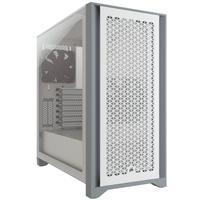 Gabinete corsair 4000d, airflow, lateral em vidro temperado, atx, branco - cc-9011201-ww