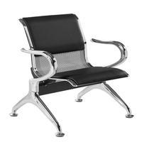 Cadeira Longarina Aeroporto Cromada Com Estofamento 1 Lugar