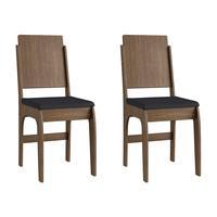 Conjunto 2 Cadeiras Em Mdf Tecido Corino 916 - Ameixa Negra