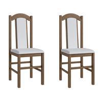 Conjunto 2 Cadeiras de  Madeira 500 Móveis Canção