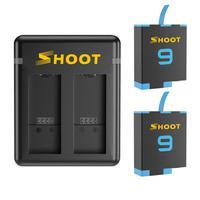 Carregador Duplo + 2 Baterias para GoPro Hero 9 e Hero 10 Black - Shoot