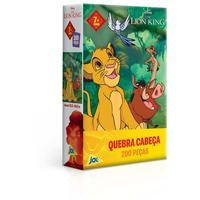 Quebra Cabeça Cartonado Rei Leao 200 Peças