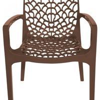 Cadeira Gruvyer Com Braços Cozinha 58X40X82Cm Marrom Café