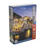 Quebra Cabeça 1000 Peças Noite Em Cinque Terre