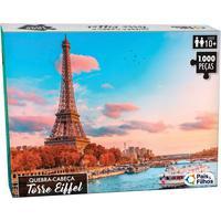 Quebra Cabeça Cartonado Torre Eiffel 1000 Peças