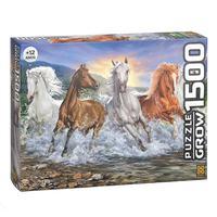 Quebra Cabeça 1500 Peças Cavalos Selvagens
