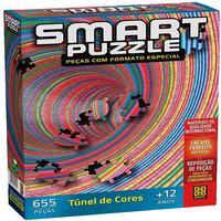 Quebra Cabeça 655 Peças Smart Puzzle - Tunel De Cores