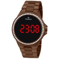 Relógio Feminino Champion Digital Ch40151r - Marrom