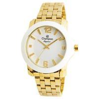 Relógio Feminino Champion Analógico Cn27661n Dourado/branco