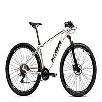 "Bicicleta Aro 29 Ksw 24 Marchas Freio Hidraulico, Trava E K7 Cor:branco/pretotamanho Do Quadro:21"" - 21"""