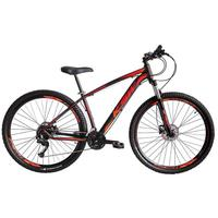 Bicicleta Aro 29 Ksw 21 Marchas Shimano Freio Hidraulico/k7 preto/laranja E Vermelho tamanho Do Quadro 17''
