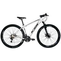 """Bicicleta Aro 29 Ksw 24 Marchas Freios A Disco, K7 E Suspensão Cor: branco/preto tamanho Do Quadro:19"""""""