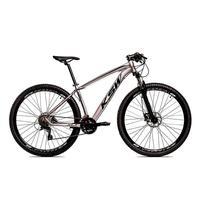 Bicicleta Aro 29 Ksw 24 Marchas Freio Hidráulico E Suspensão Cor: grafite/preto tamanho Do Quadro:17  - 17