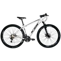 """Bicicleta Aro 29 Ksw 24 Marchas Freios A Disco, K7 E Suspensão Cor: Branco/preto, Tamanho Do Quadro:21"""" - 21"""""""