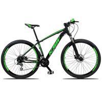 Bicicleta Aro 29 Ksw 21 Marchas Freio Hidraulico, Trava E K7 Cor: preto/verde tamanho Do Quadro:19  - 19