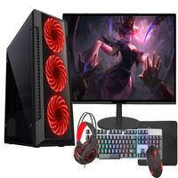 """PC Gamer Completo Fácil AMD A6 9500, 8GB, 2666 MHz, DDR4, HD 1TB, Radeon R5 2GB, Monitor 19"""", Fonte 500W"""