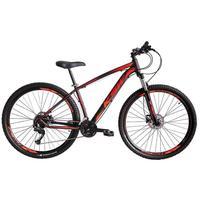 Bicicleta Aro 29 Ksw 27 Marchas Freio Hidráulico E K7 Cor: preto/laranja E Vermelho tamanho Do Quadro:17  - 17