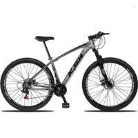 Bicicleta Aro 29 Ksw 21 Marchas Shimano, Freios A Disco E K7 Cor grafite/preto tamanho Do Quadro 17''