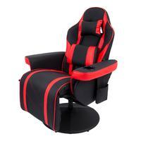 Cadeira Poltrona Gamer Pelegrin Pel-y107, Couro Pu, Preta E Vermelha
