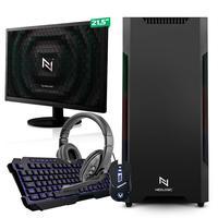 Kit - Pc Gamer Start Nli82908 Amd 320ge 16gb vega 3 Integrado Ssd 120gb + Monitor 21.5