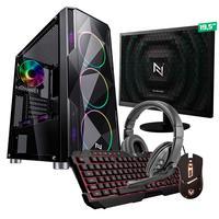 Kit - Pc Gamer Start Nli82887 Amd 320ge 8gb vega 3 Integrado Ssd 120gb + Monitor 19,5