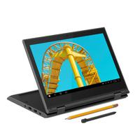 "Notebook Lenovo 300e Gen 2, Celeron, 4GB, 64GB Emmc, Win10 Pro, 11.6"" Antirreflexo, Multitouch - 81m9s02h00"