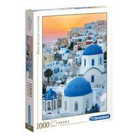 Puzzle 1000 Peças Ilha Santorini - Clementoni - Importado