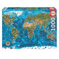 Puzzle 1000 Peças Maravilhas Do Mundo Educa