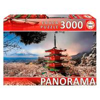 Puzzle 3000 Peças Panorama Monte Fuji E Pagoda - Educa Imp
