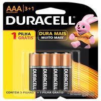 Pilha Alcalina Aaa Duracell - Com 4 Unidades - Mn2400b4